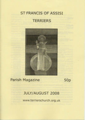 Cover of the July/August 2008 Terriers Parish Magazine